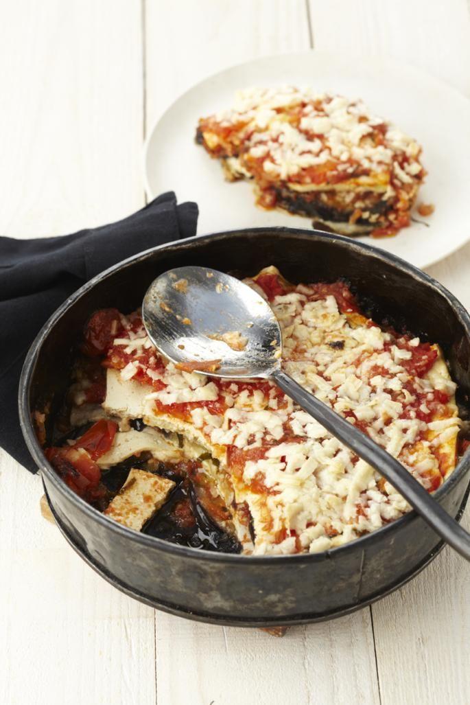 Lichte Italiaanse auberginegratin   Vegetarische kookstudio