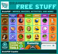 BrainPOP Free Videos - Link to free videos on BrainPOP as well as other resources for your computer and interactive whiteboard