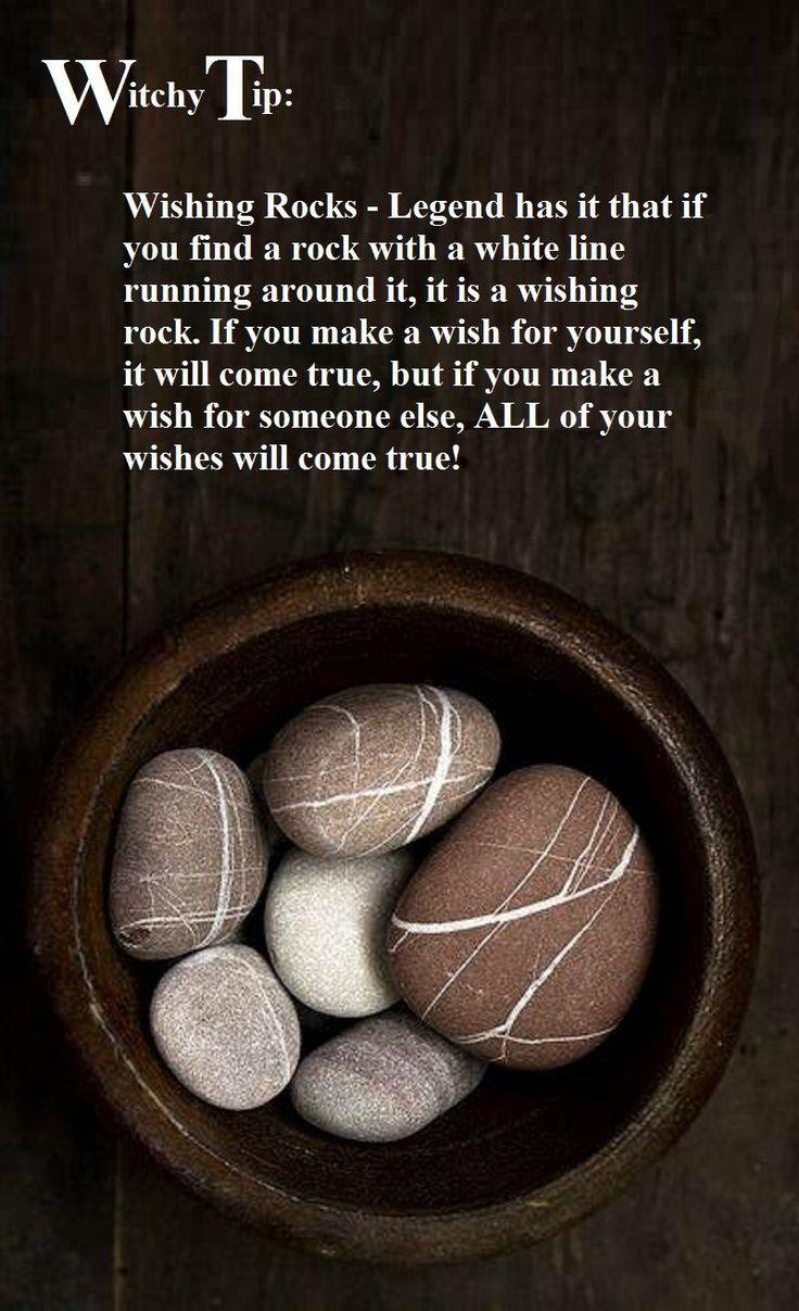 Wish on a white striped stone