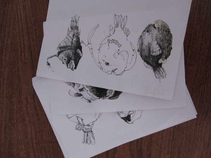 Sketches by Gry Holmskov, designer of the Angel Stool.