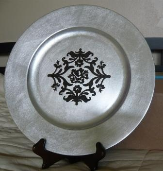 Charger Plate - Elegant Decoupage Charger Plates - Flower. $10.00 via Etsy. & 79 best Charger Plates images on Pinterest | Dishes Charger plates ...