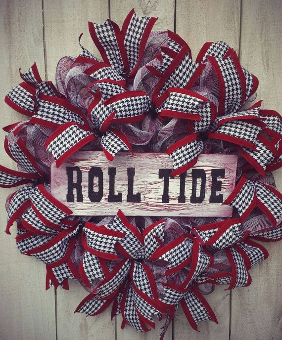 Check out this item in my Etsy shop https://www.etsy.com/listing/156020421/alabama-football-wreath-bama-door-wreath