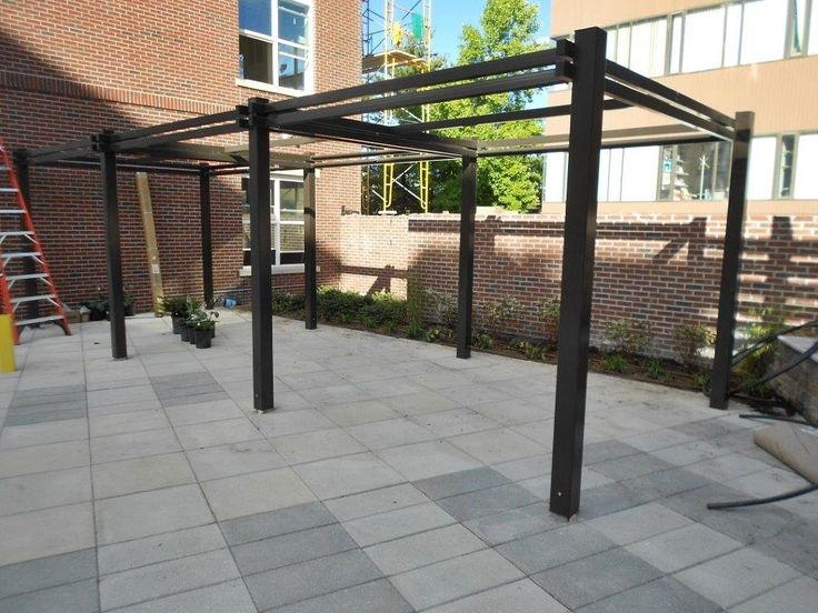 13 best shade structures images on pinterest outdoor for Steel shade structure design