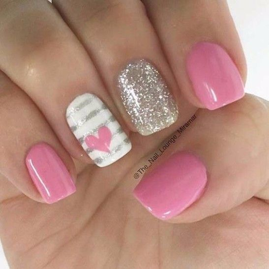 612 best hot pink nail art images on pinterest hot pink nails 25 lovely pink nail art designs page 12 of 28 nessnails prinsesfo Choice Image