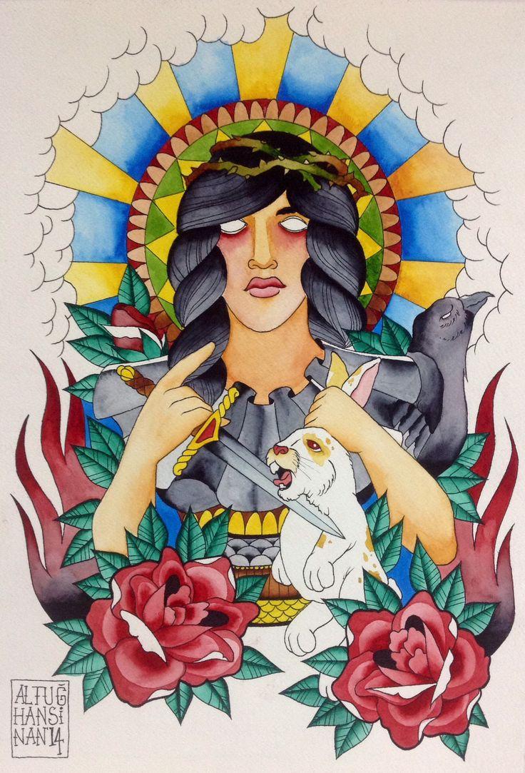 35*50 cm. Watercolor