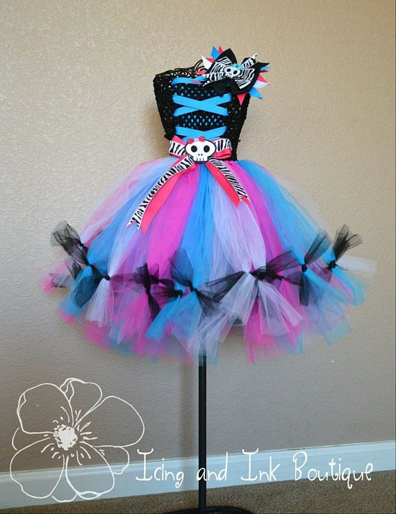 Monster High Tutu Monster High Costume Halloween Tutu Birthday
