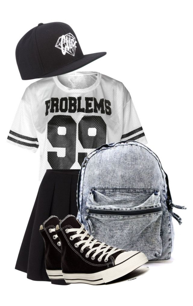 """""""//i got 99 problems but you won't be one//"""" by emmapettitt ❤ liked on Polyvore featuring Polo Ralph Lauren, Converse and Diamond Supply Co."""