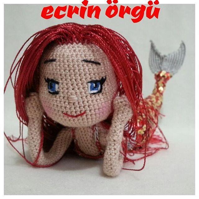#amigurumi #denizkızı #amigurumidenizkızı #toys #nakoileörüyorum #oyuncak #doll #bebek #orgu #mermaid