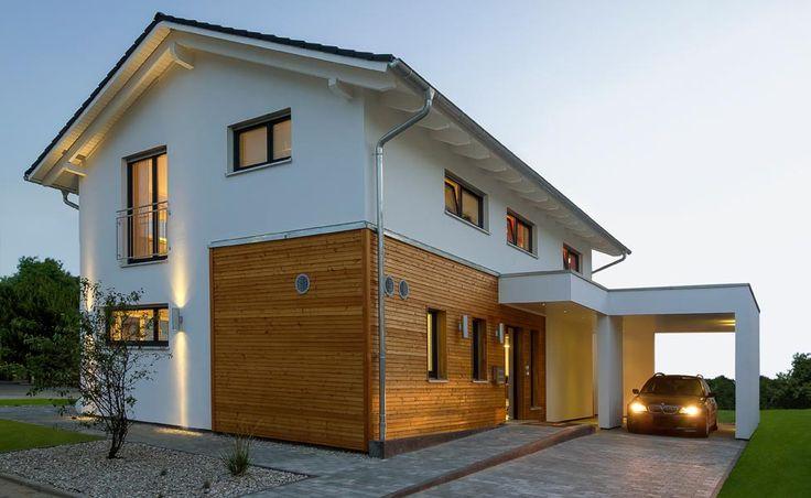 ++++ Fin de Série Plusenergiehaus Jubilée XXL Plus: maison préfabriquée de Haas Haus
