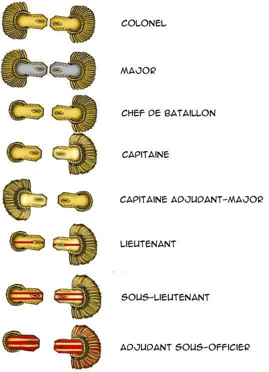 French officer epaulettes Napoleonic era