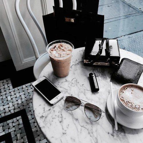 Imagem de coffee, iphone, and food