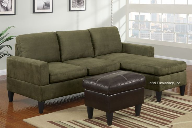Sage Green Cloth Couch Small Sage Green Microfiber Sectional Sofa And Ottoman Set F7284 Couch