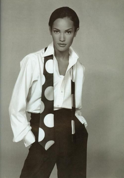 The Great White Shirt - Vogue 1992 - Claudia Mason