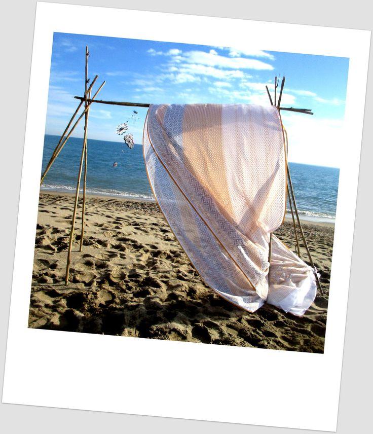5 X 1.12 mètres de tissu indien sari en coton mélangé gris, orange... : Tissus pour rideaux, voilages par o-tissus-de-ganesh