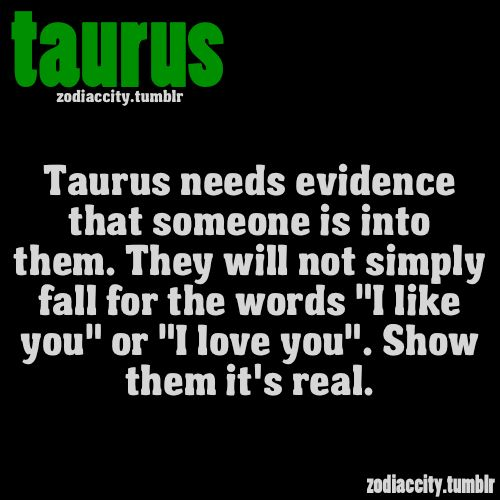If you want to win a Taurus over then you must SHOW them how you feel. Good, bad or indifferent, they take it all seriously.