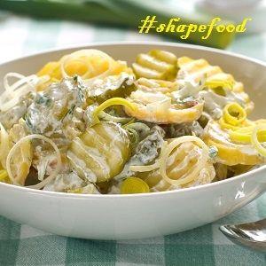 Σαλάτα με ψητή πατάτα & αγγούρι: μόνο 131 θερμίδες | Shape.gr