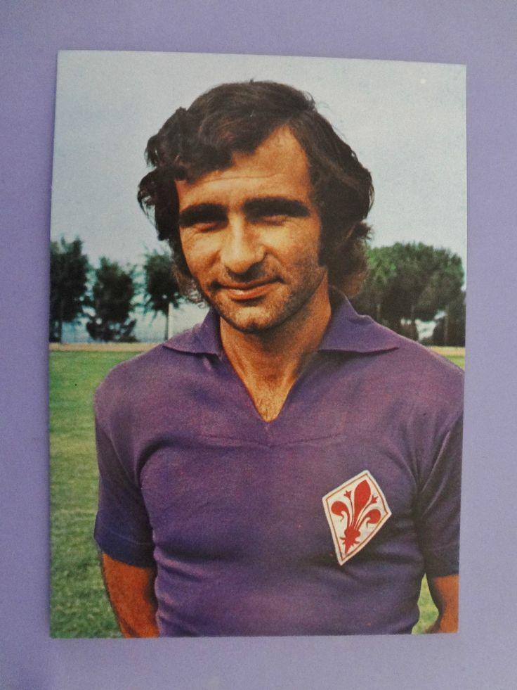CARTOLINA POSTCARD CALCIO SOCCER FIORENTINA STENO GOLA 1976-77 (NO PANINI) - FIO…