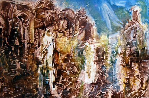 41 beste afbeeldingen van fam van dulmen krumpelman - Schilderij kooi d trap ...
