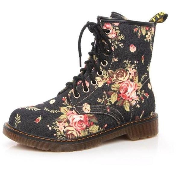 """Botas Rosas"" Canvas Boots #WomenBoots #AnkleBoots #boots"