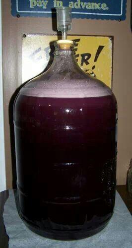 Sweet homeade blkberry wine