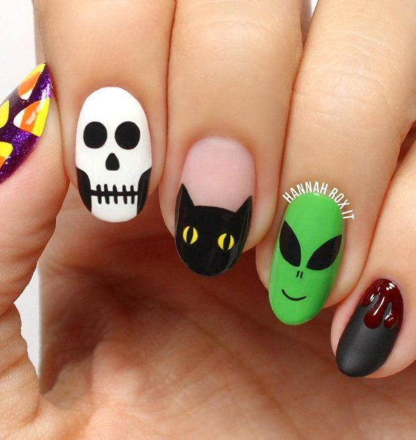 halloween-nail-art - 50 Cool Halloween Nail Art Ideas  <3 <3