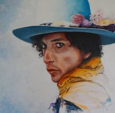 """Saatchi Art Artist Mel Davies; Painting, """"Bob Dylan,  The times they are a changin'"""" #art"""