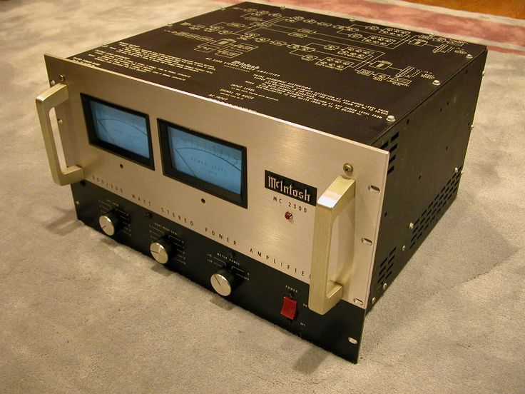 1970s McIntosh MC2300 300 watt stereo power amplifier. As a teen, I used to go to the audio store and drool over these.