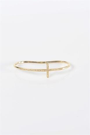 Cross Hand Bracelet - Gold