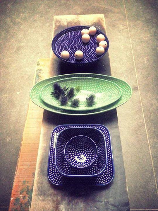 Bunzlauer Keramik Schale / Schüsseln  Polish Pottery Bowl in modern design HomeMode.de