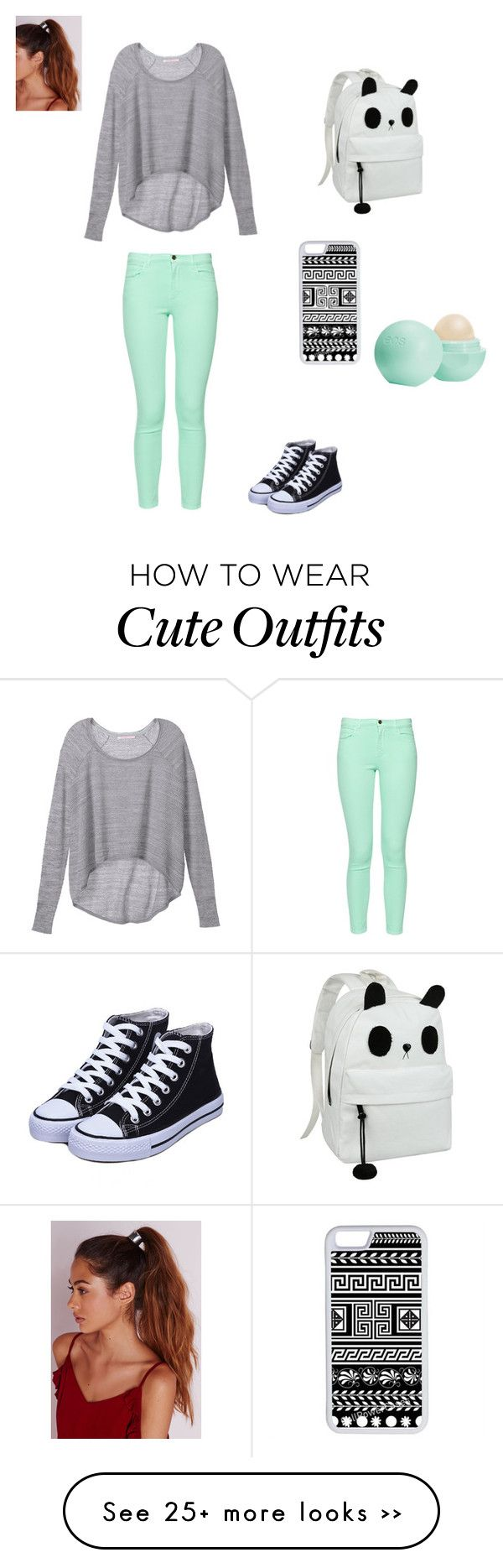"""Back to school outfit"" by weirdo-love on Polyvore featuring Victoria's Secret, French Connection, Missguided, CellPowerCases and Eos"