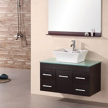 Photo Image Extraordinary Modern Wall Mounted Sink With Vanity Design Ideas Come Cream Stained Wall As Well As
