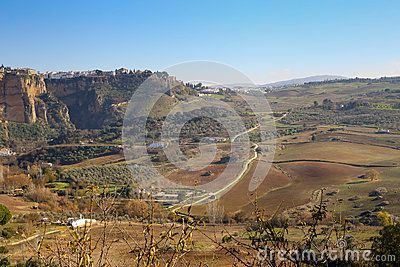 A view upon Ronda surrounding plains taken in december 2015 around Christmas time. It's a MUST-VISIT place if you like to hike! Andalusia Spain