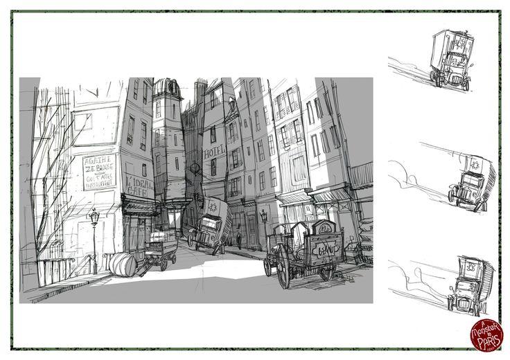 Un Mostre a Paris - Set design/animation sketch