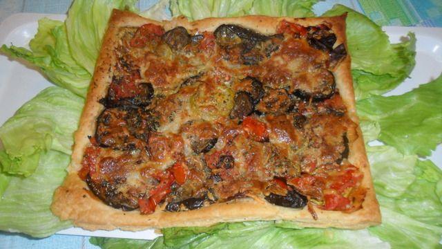 #Tarta de #verduras con queso Ver receta: http://www.mis-recetas.org/recetas/show/43627-tarta-de-verduras-con-queso