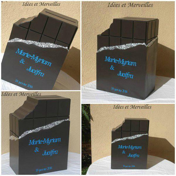Une nouvelle urne pour un mariage sur le th me gourmandise et chocolat deco table pinterest - Fabriquer une urne anniversaire ...