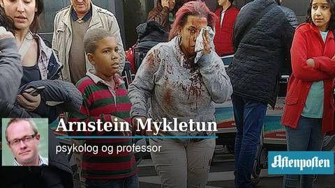 Terror er helt forkastelig, men ikke noe å være redd for   Arnstein Mykletun - Aftenposten