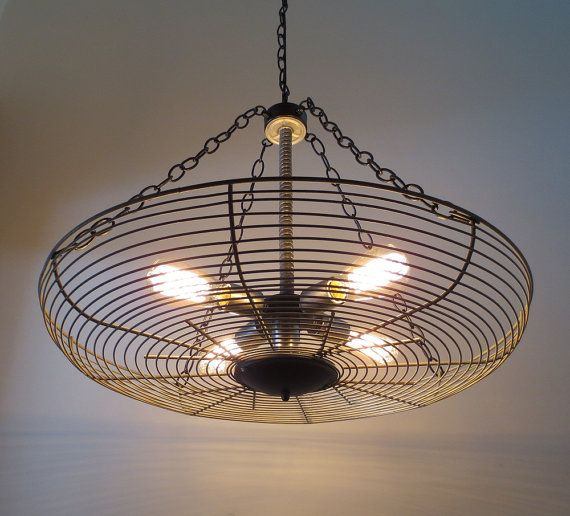 Unity Mixed Media INDUSTRIAL Vintage LIGHT by LampGoods on Etsy, $299.00