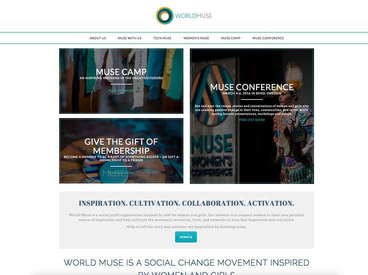 LuLish Design provided strategic and technical website U/X consulting for the World Muse organization. Ultimately, we ended up redesigning and refreshing the World Muse website and incorporating the existing Muse Conference site into one cohesive website experience.