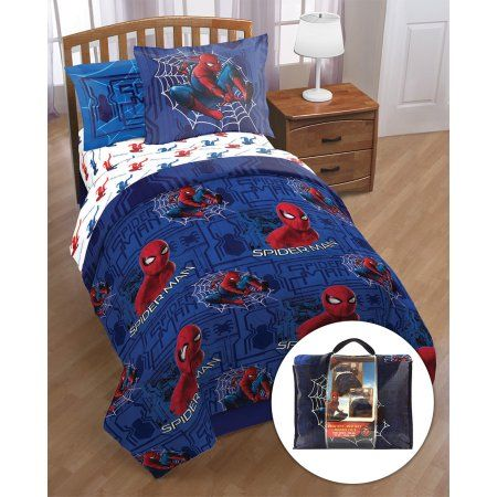 Spiderman Kids Twin Bed in a Bag Bedding Set Image 1 of 3