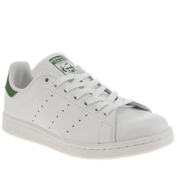 Womens White & Green Adidas Stan Smith Trainers | schuh