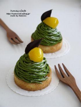 「抹茶のモンブランタルト」はつみ | お菓子・パンのレシピや作り方【corecle*コレクル】