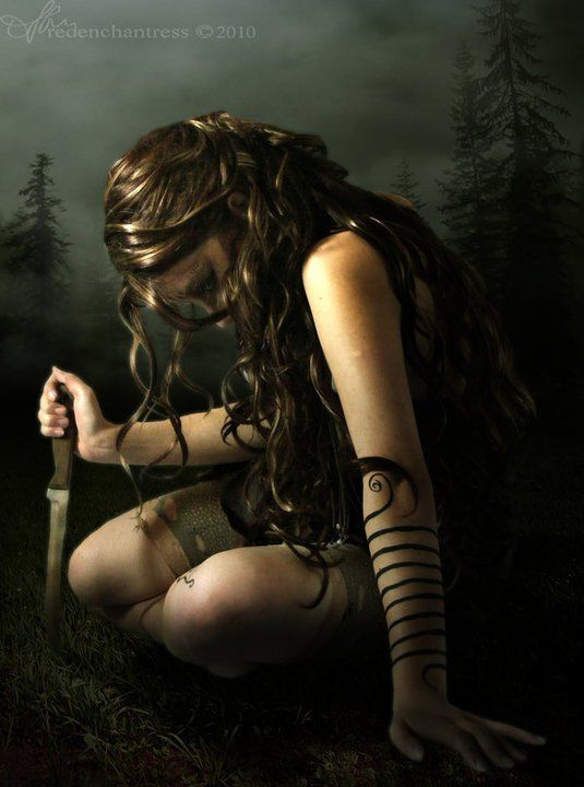 Girl with dagger