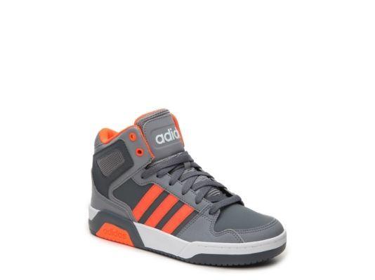 Men's adidas NEO BB9TIS Boys Toddler & Youth Basketball Shoe - Grey/Orange