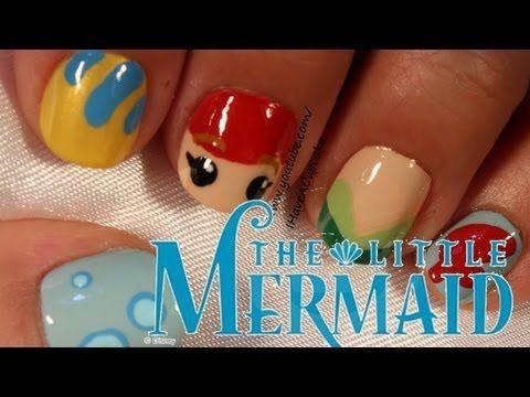 ▶ Little Mermaid Nail Art - YouTube