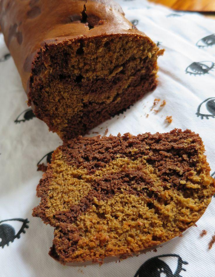 Gâteau marbré chocolat-chicorée sans gluten