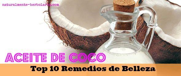 10 trucos de belleza con Aceite de Coco - Herbolario Naturalmente