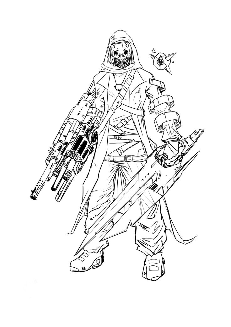 destiny characters hunter coloring pages - photo#11