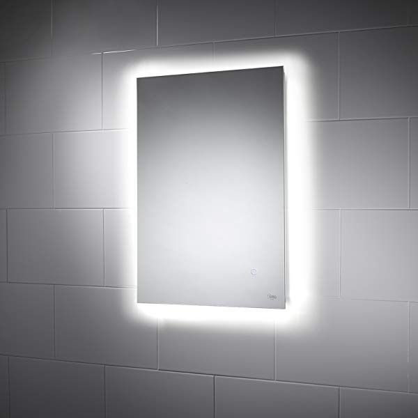 Pebble Grey 500 X 700 Mm Bathroom Mirror Savannah Led Illuminated Bathroom Mirror Ip44 Rated Rectangular Backlit Wall Mounted Mirror With Wall Mounted Mirror Mirror Bathroom Lighting