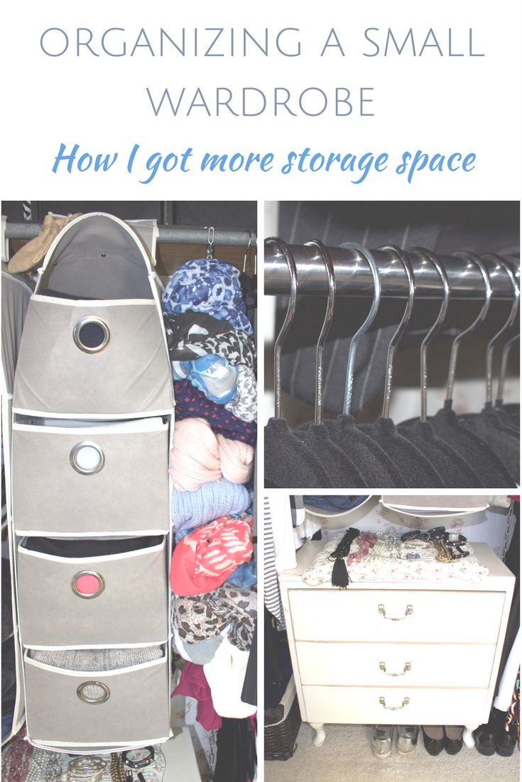 Great easy solutions to get more storage in a small wardrobe