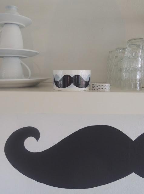 moustache tape at Met Melk & Suiker